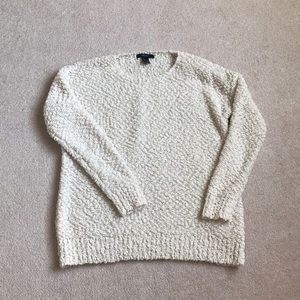 Forever21 cream fluffy sweater